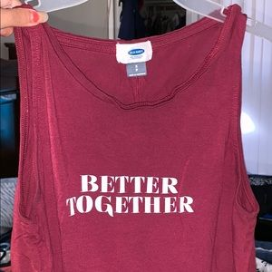 Old Navy Better Together maroon flow top
